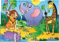 """Пазлы 12 """"В мире животных"""" в кор."""