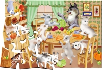 "Пазлы 24 ""Волк и семеро козлят"" в кор."